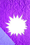 Star blank crumpled paper in purple Royalty Free Stock Photography