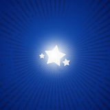 Star blue 01. Stars in blue grunge background Royalty Free Stock Images
