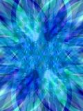 Star blue. Blue star made of colcorful shining diffused triangles. Illustration made on computer Stock Images