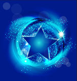 Star blue background vector Stock Photo