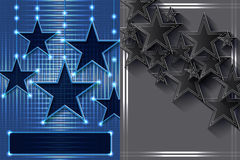 Star blue dark effect page Stock Photography