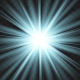 Star blue explodes on transparent background. royalty free illustration