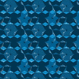 STar blue Japanese asanoha isometric seamless pattern Stock Photos