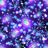 Star blue light seamless pattern Royalty Free Stock Photography