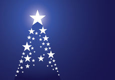Star blue pine christmas background Stock Images