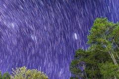 Star in bluesky at Phukradueng national park. Loei province, Thailand stock photography