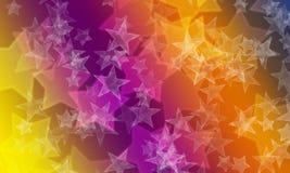 Star bokeh background on bright colours stock illustration