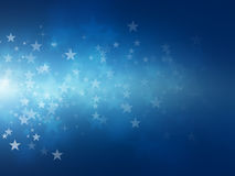 Star bokeh backgrounds. Blue star bokeh abstract light backgrounds royalty free illustration