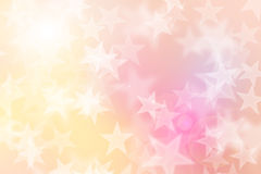 Star bokeh on colorful background Stock Photo