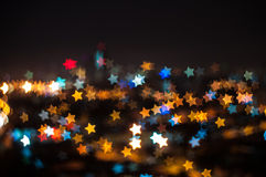Star bokeh shape Royalty Free Stock Photography