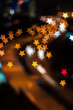 Star bokeh shape with light trail Stock Photography