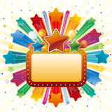 star and border Royalty Free Stock Image