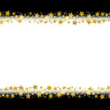 Star border frame. Gold star border frame with black background stock illustration