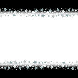 Star border frame. Silver star border frame with black background vector illustration