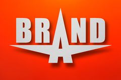 Star brand. Symbol made of paper with red background Royalty Free Stock Photo