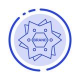 Star, Branding, Brand, Logo, Shape Blue Dotted Line Line Icon royalty free illustration