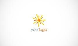 Star bright shine vector logo Royalty Free Stock Image