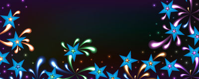 Star bright spirit colorful banner Royalty Free Stock Image