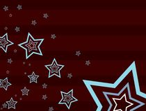 Star brown background 2. Brown striped background with stars Stock Images