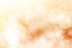 Star on brown and white, abstract bokeh background. Royalty Free Stock Photo