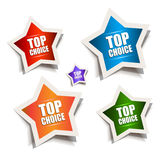 Star bubble speech with Best Choice motive Stock Photos