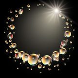 Star and bubbles Royalty Free Stock Image