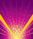 Star Burst. Stars explode and background color Stock Images