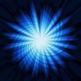 Star burst. Abstract blue star burst on black background Stock Photography