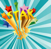 Star burst. Vector illustration of stars in many color Stock Photography