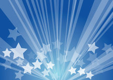 Star burst. Retro blue background vector illustration