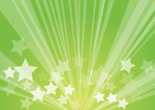 Star burst. Retro green background stock illustration