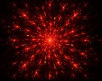 Star burst. Abstract illustration  of  star burst. on black background Stock Photos