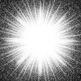 Star burst. Abstract vector black and white halftone background. Eps8. RGB. Global color Stock Image