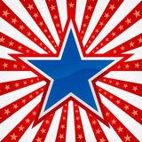 Star on a Burst Background Stock Photos