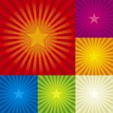 Star burst background stock illustration