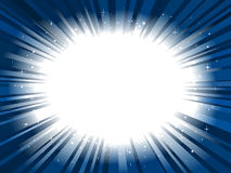 Star burst background frame Stock Photography