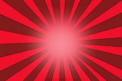 Star burst background texture with red stripes Royalty Free Stock Photos