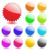 Star Burst Badge Vector Flash Starburst Sticker Price Glossy Icon Set Sale Tag Blank Design Label Element Button Shape Empty Sign Royalty Free Stock Photo