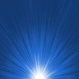 Star burst blue and white flare. EPS 8 Royalty Free Stock Image