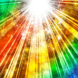 Star burst disco lights. Celebration background, with rainbow effects Royalty Free Stock Photos
