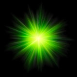 Star Burst Green Stock Image
