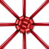 Star Burst Holiday Ribbon Royalty Free Stock Image
