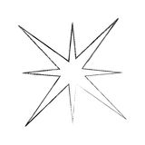 Star burst isolated icon. Vector illustration design Stock Photography