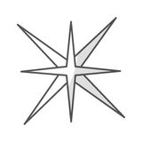 Star burst isolated icon. Vector illustration design Stock Image