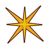Star burst isolated icon. Vector illustration design Royalty Free Stock Images