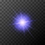 Star burst with purple sparkles on transparent background Royalty Free Stock Photo