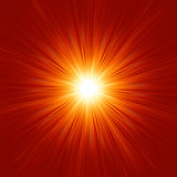 Star burst red and yellow fire. EPS 8. Vector file included Stock Images
