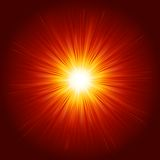 Star burst red and yellow fire. EPS 10 Royalty Free Stock Photos