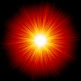 Star burst red and yellow fire. EPS 10 Stock Photo