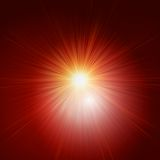 Star burst red and yellow fire. EPS 10 Royalty Free Stock Photography